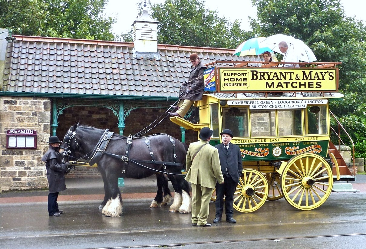 LightHorsebus at Beamish openair museum. Double click on
