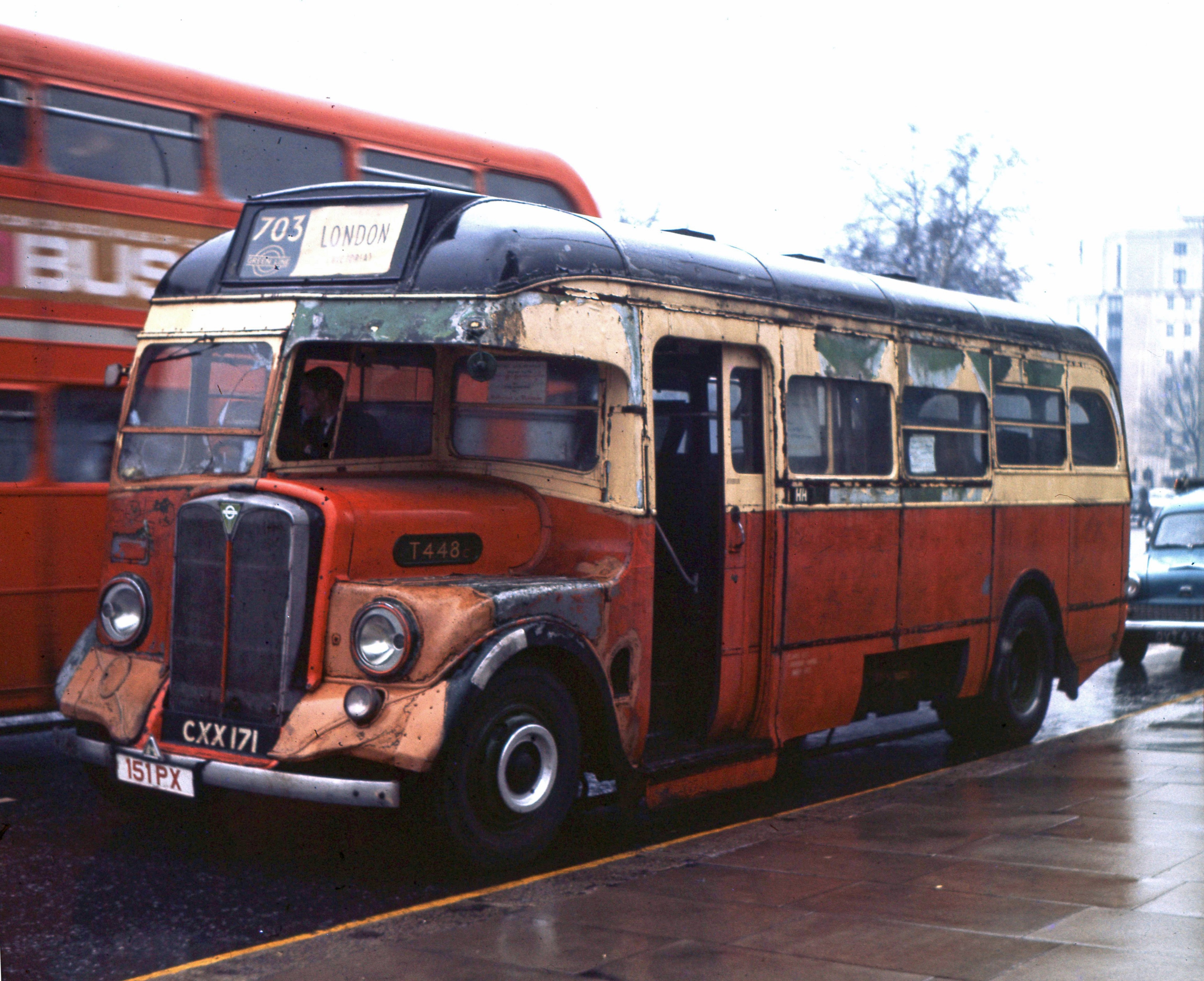 1936 AEC Regal I coach - T448 - London Bus Museum